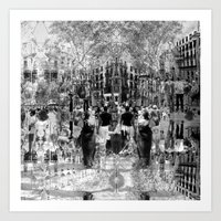 Summer space, smelting selves, simmer shimmers. 26, grayscale version Art Print