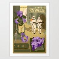 Rebel 5: Zeb Orrelios Art Print