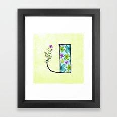 J j Framed Art Print