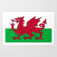 National Flag Of Wales -… Art Print