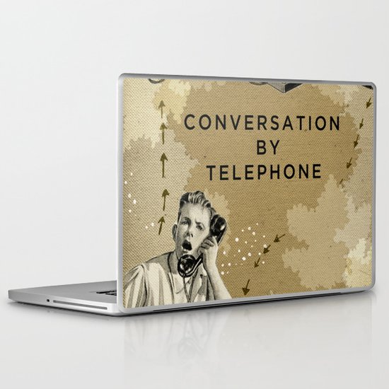 Conversation by Telephone Laptop & iPad Skin