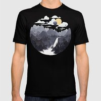Roundscape II Mens Fitted Tee Black SMALL