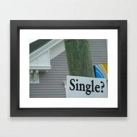 Street Single. Framed Art Print