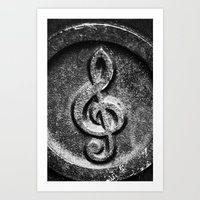 Nashville Music Note Art Print