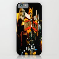 iPhone & iPod Case featuring Golden Optimus by kyleray3000