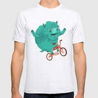 Bicycle Buffalo Mens Fitted Tee Ash Grey SMALL