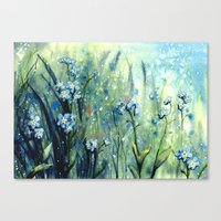 Forget me not flowers Canvas Print