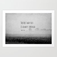 Robert Frost Quote Best … Art Print