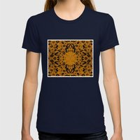 Leopard Womens Fitted Tee Navy SMALL