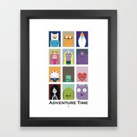 Minimalist Adventure Tim… Framed Art Print