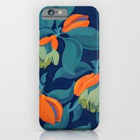 Tropical orange fruit tree iPhone 6 Slim Case