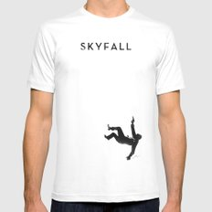 Skyfall Mens Fitted Tee SMALL White