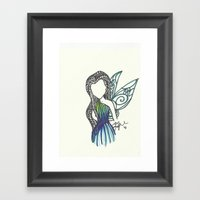 Silvermist Zen Tangle Framed Art Print