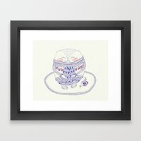 cozy cat Framed Art Print