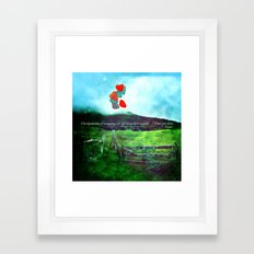 there is a field... I'll meet you there. {VER. II} Framed Art Print