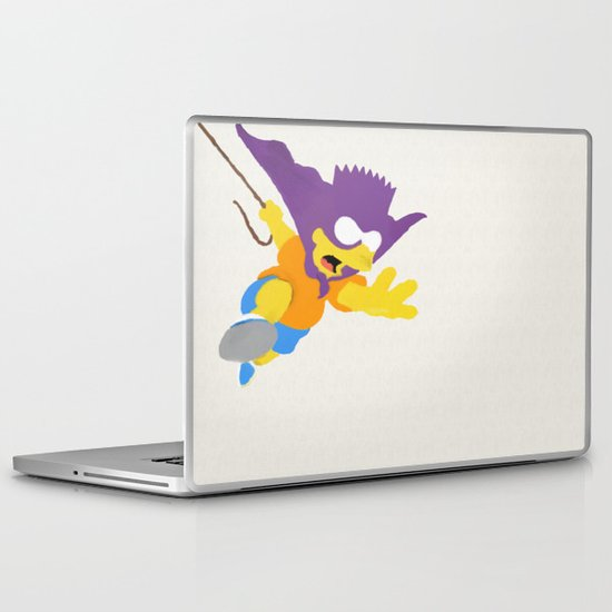 Minimalist Bart Laptop & iPad Skin