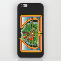Classic Centipede Woodcut iPhone & iPod Skin