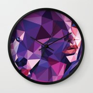 Wall Clock featuring She Wolf by Roland Banrevi