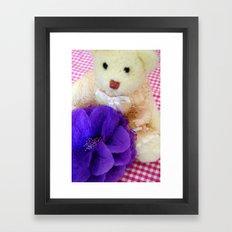 The white vintage bear Framed Art Print