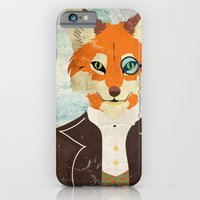 iPhone & iPod Case featuring Foxy le dandy by Crea Bisontine
