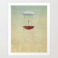 the umbrella runneth over 02 Art Print