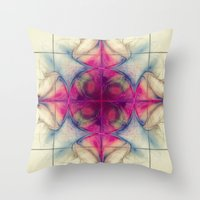The Cross of Eternity Nebula Throw Pillow