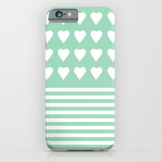 Heart Stripes Mint Slim Case iPhone 6s