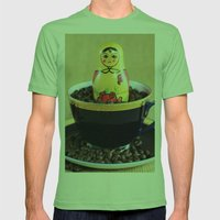 Russian Coffee Mens Fitted Tee Grass SMALL