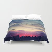 Anything could happen Duvet Cover
