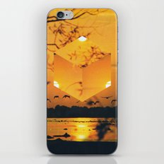 Hexagon Sunset iPhone & iPod Skin