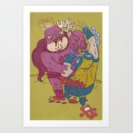 Art Print featuring Same Old Jokes by Liquidpig
