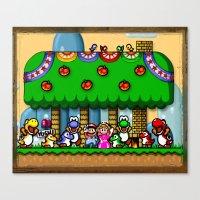 Super Mario World Happy Ending Canvas Print
