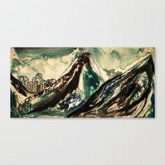 between peaks Canvas Print