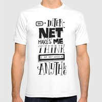 Internet Envy Mens Fitted Tee White SMALL