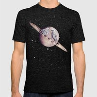 Space Sparrows Mens Fitted Tee Tri-Black SMALL