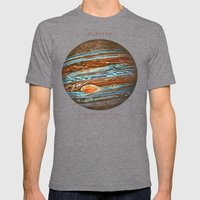 Jupiter Mens Fitted Tee Tri-Grey SMALL