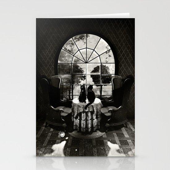 Room Skull B&W Stationery Card