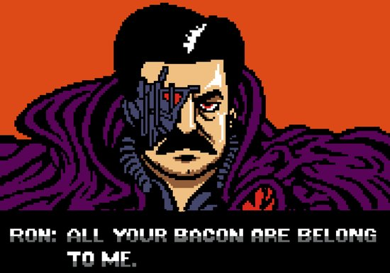 All your bacon are belong to me Art Print
