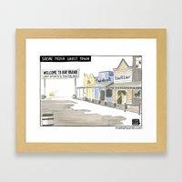 Social Media Ghost Town Framed Art Print