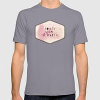 home is where the heart is Mens Fitted Tee Slate SMALL