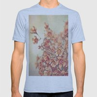 Orange Waxflowers Mens Fitted Tee Athletic Blue SMALL