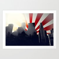 Chicago Vector Cityscape Art Print