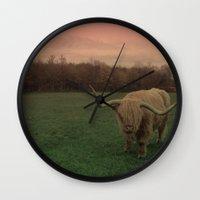 Scottish Highland Steer Wall Clock