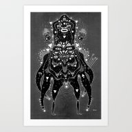 Art Print featuring Post Rammy by Cosmic Nuggets