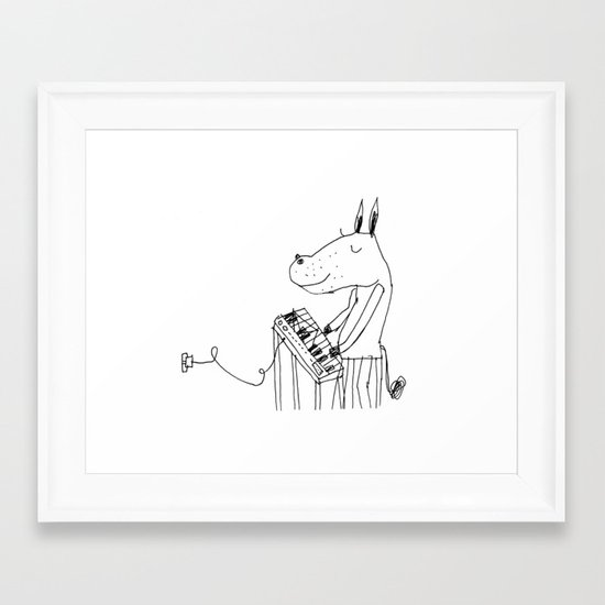 keyboard player Framed Art Print
