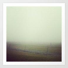 Misty Art Print
