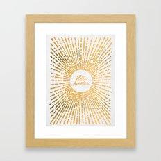 Hello Sunshine Gold Framed Art Print