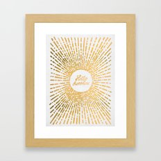 Hello Sunshine Gold Framed Art Print