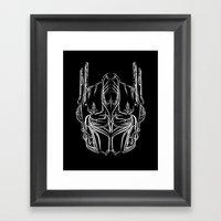 Pinstripe Prime Framed Art Print