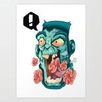 Zombie. Art Print